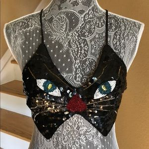 Host Pick 10/6 Leg Avenue Sequin Bead Cat Bralette